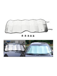 Windshield Sun Shade for Car Silver Thicken 140x70cm UV Reflector Auto Front Window Sunshade Visor Shield Cover and Keep Your Vehicle Cool