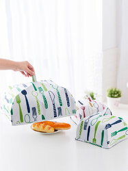 Food Cover Keep Warm Vegetable Cover Foldable Aluminum Foil Cover Dishes Insulation