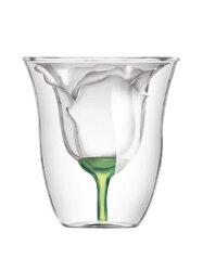 Rose Double Rose Beer Glass Mug Transparent Wine Cup Beer Coffee Mug Bar Beach Drinkware