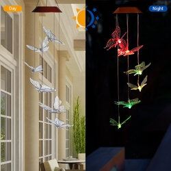 Solar LED Wind Chime Butterfly