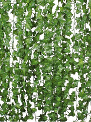 12pcs Artificial Greenery Fake Ivy Leaves Garland Hanging Wedding Party Garden Wall Decoration