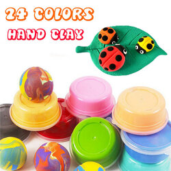 24 Bright Colors Carton Installed Super Light Hand Clay Slim Educational Toys