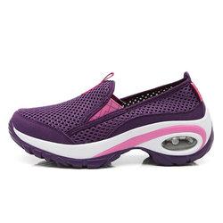 Shock Absorption Mesh Platform Casual Shoes