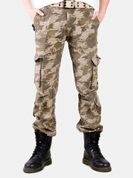 100% Cotton Multi-Pocket Outdoor Camouflage Cargo Pants