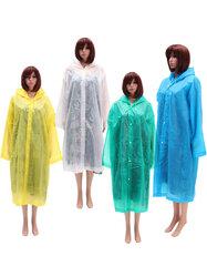 Women Raincoat Translucence Button Rain Coat