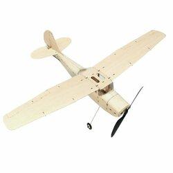 MinimumRC Cessna L-19 460mm Wingspan Balsa Wood Laser Cut RC Airplane KIT - KIT+Motor