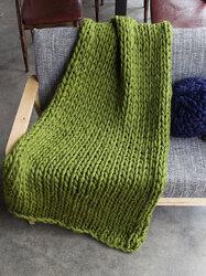 120x150cm Handmande Chunky Knit Blanket Thick Yarn