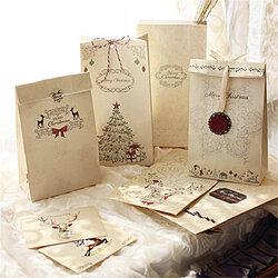 8Pcs Kraft Paper Xmas Wedding Bags