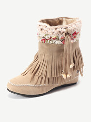 Large Size Tassel Boots