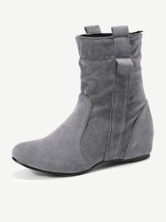 Increased Heel Mid Calf Boots