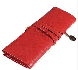 PU Leather Pen Bag Pencil Case Makeup Bag