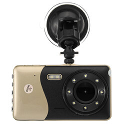 4'' Dual Lens Camera 170° HD 1080P Car DVR Vehicle Video Night Vision G-Sensor Dash Cam Dictaphone with Microphone/Speaker