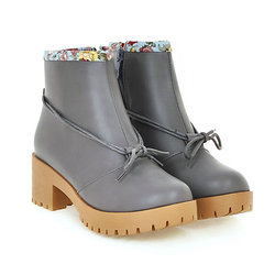Large Size Bowknot Casual Boots