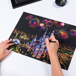 DIY World Sightseeing Scratch Scraping Painting