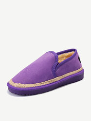 Suede Flat Warm Casual Flat Boots