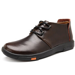 Category: Dropship Shoes & Boots, SKU #SKU802516, Title: Large Size Men Leather Waterproof Ankle Boots