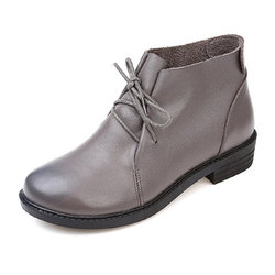 Large Size Cow Leather Boots