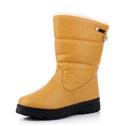 Metal Fur Lining Boots
