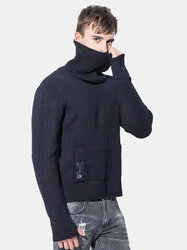 High Collar Knitted Casual Sweater