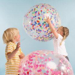 """36"""" Multicolor  Confetti Balloon Jumbo Latex Balloon"""