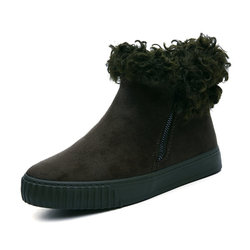 M.GENERAL Zipper Round Toe Soft Warm Boots