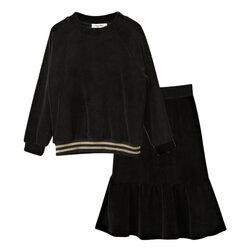 Category: Dropship Kids & Mom, SKU #SKU854149, Title: 2Pcs Girls Tops + Skirt Set For 5Y-15Y