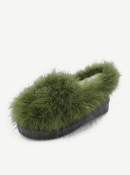 Furry Flat Lazy Casual Shoes