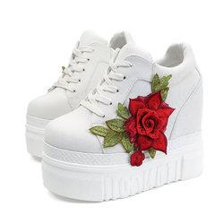 Platform Flower Increasing Heel Shoes