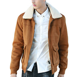 Lambswool Fleece Collar Jacket