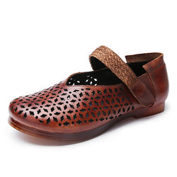SOCOFY Flat Soft Leather Shoes