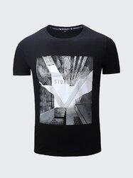 100%Cotton City Building Printed T Shirt