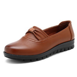 Solid Color Soft Flexible Flat Loafers