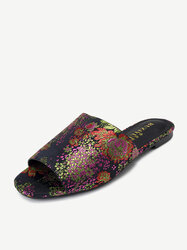 Floral Embroidered Slipper Casual shoes Polychrome Slippers