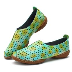 SOCOFY Casual Soft Flat Leather Shoes