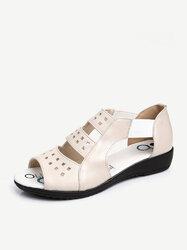 Large Size Peep Toe Elastic Band Sandals