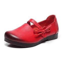SOCOFY Soft Flat Leather Shoes