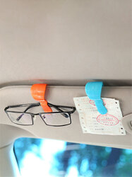 2Pcs Car Sun Visor Glasses Clip