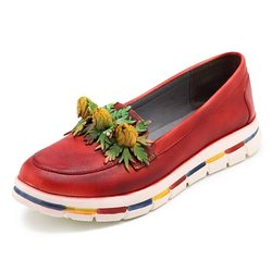 SOCOFY Retro Flat Causual Leather Shoes