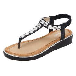 Large Size Beaded Bohemia Sandals