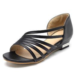 Large Size Peep Toe Sandals