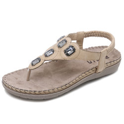 Large Size Bohemia Beach Flat Sandals