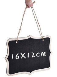 16*12cm Small Blackboard Wall Hanging