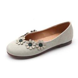 Flower Vintage Flat Loafers