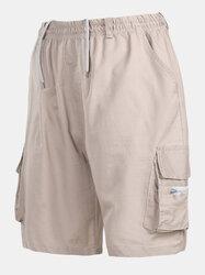 Multi-pocket Knee Length Cargo Shorts