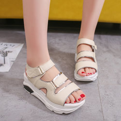 Hook Loop Platform Athletic Sandals