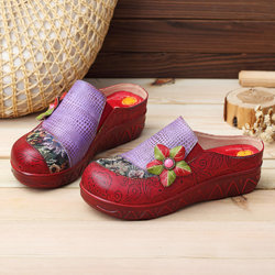 SOCOFY Handmade Retro Casual Leather Shoes
