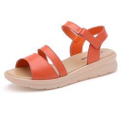 Hook Loop Peep Toe Casual Sandals