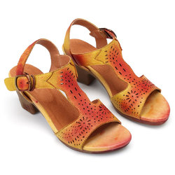 SOCOFY Handmade Color Leather Sandals