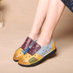 SOCOFY Soft Hollow Out Flat Casual Loafers