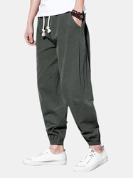 Linen Casual Baggy Loose Harem Pants